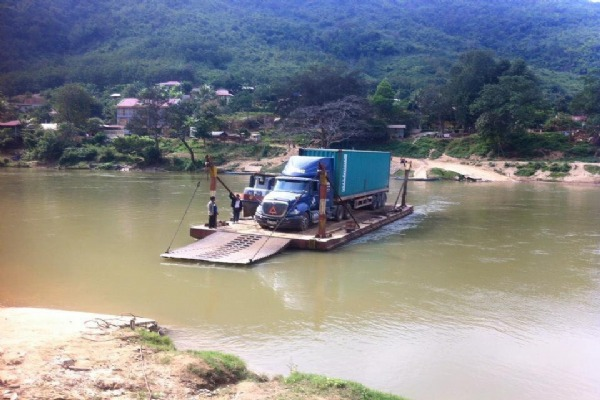 On the way to Huaphan mine, Laos